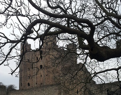Rochester Castle - inspiration for Castle Brock.